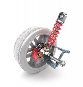 bigstock-Wheel-shock-absorber-and-brak-39564628-287x300 Cum functioneaza efectiv amortizoarele?
