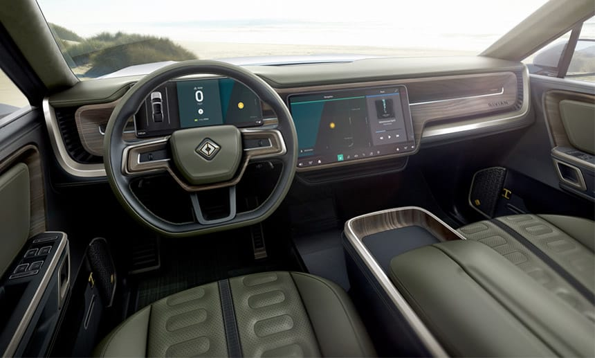 rivian-r1t-interior Pickup-ul electric Rivian R1T, dezvaluit la Los Angeles
