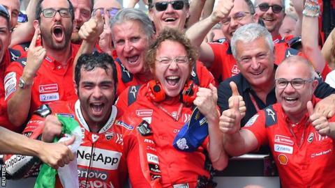 107203464_hi054380444 MotoGP: Petrucci, victorios acasa