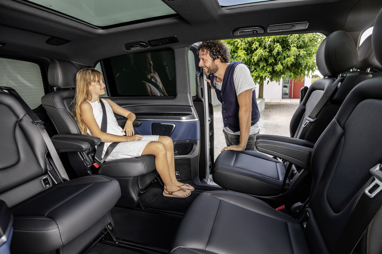 """New-2020-Mercedes-Benz-EQV_19 Mercedes EQV, pentru vacante """"electrice"""" cu familia"""