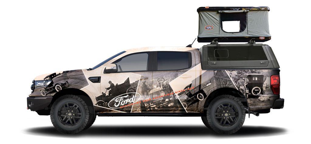 ford-performance-parts-ranger-wrapped Ranger si Transit, peste 50 de versiuni custom pentru SEMA