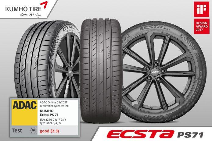 Kumho_Ecsta_ps71 KUMHO Tire echipează NOUA SKODA OCTAVIA cu anvelope ECSTA PS71 - 205/60 R16 92V