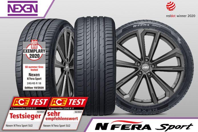 Nexen_NFera_Sport NEXEN Tire echipează NOUL PORSCHE PANAMERA cu anvelope N'FERA Sport 265 45 R19 105Y XL - 295 40 R19 108Y XL