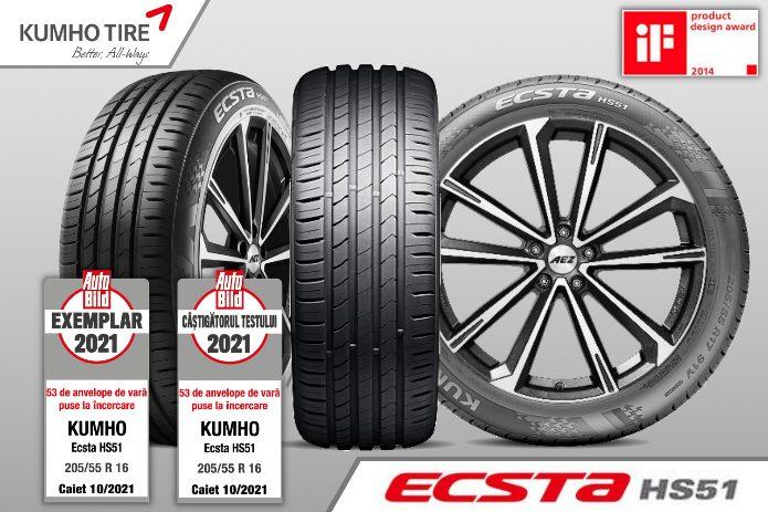 anvelopa-kumho-ecsta-hs51-auto-bild KUMHO Tire echipeaza NOUL RENAULT ARKANA cu anvelope ECSTA HS51 - 215 60 R17 si 215 55 R18