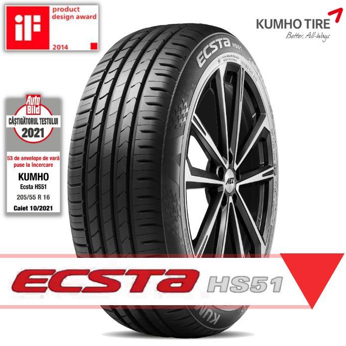 anvelope-kumho-ecsta-h51 KUMHO Tire echipeaza NOUL RENAULT ARKANA cu anvelope ECSTA HS51 - 215 60 R17 si 215 55 R18